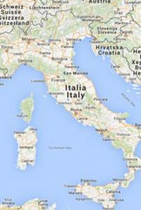 Kort Over Italien Localliving